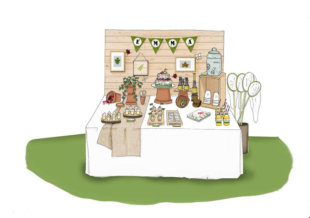 Sweet table sur le thème Petit Explorateur