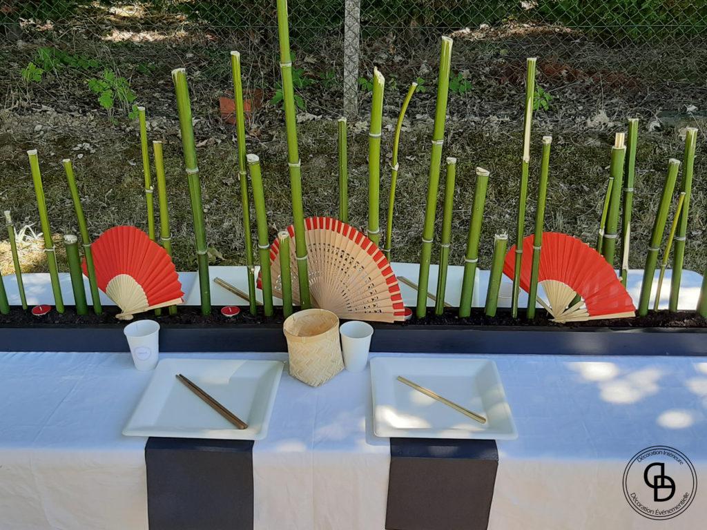 Table décorée pour un anniversaire enfant sur le thème Petit Ninja