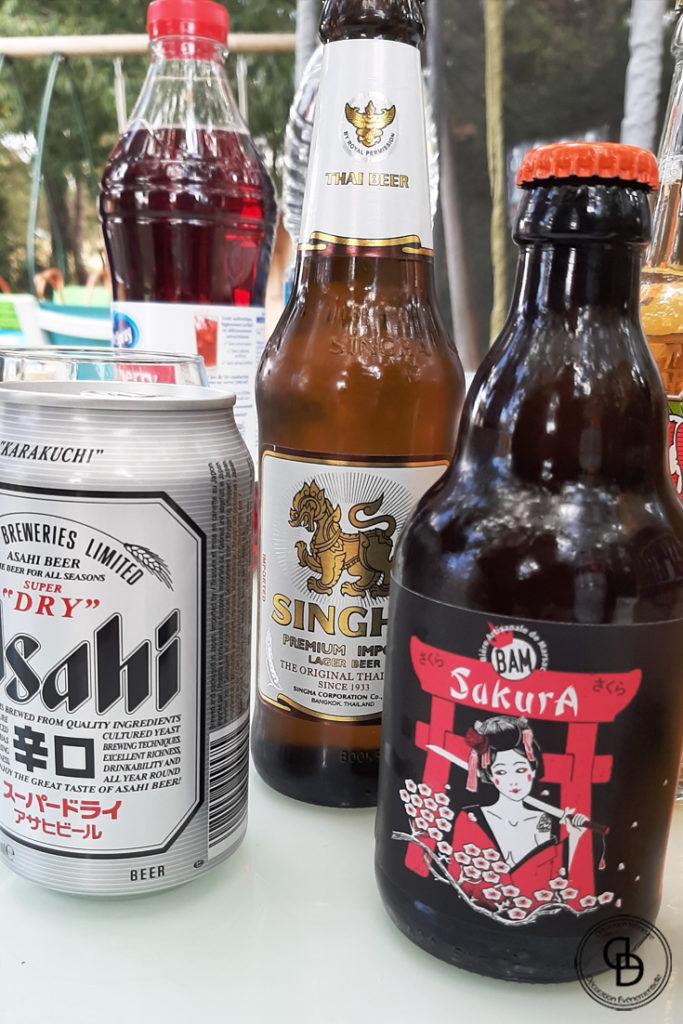 Bières asiatiques japonaises chinoises