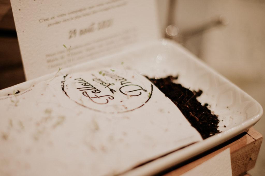 Papier ensemencé mariage