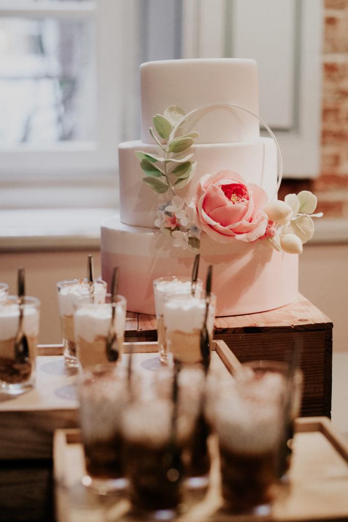 Wedding cake et verrines sans gluten