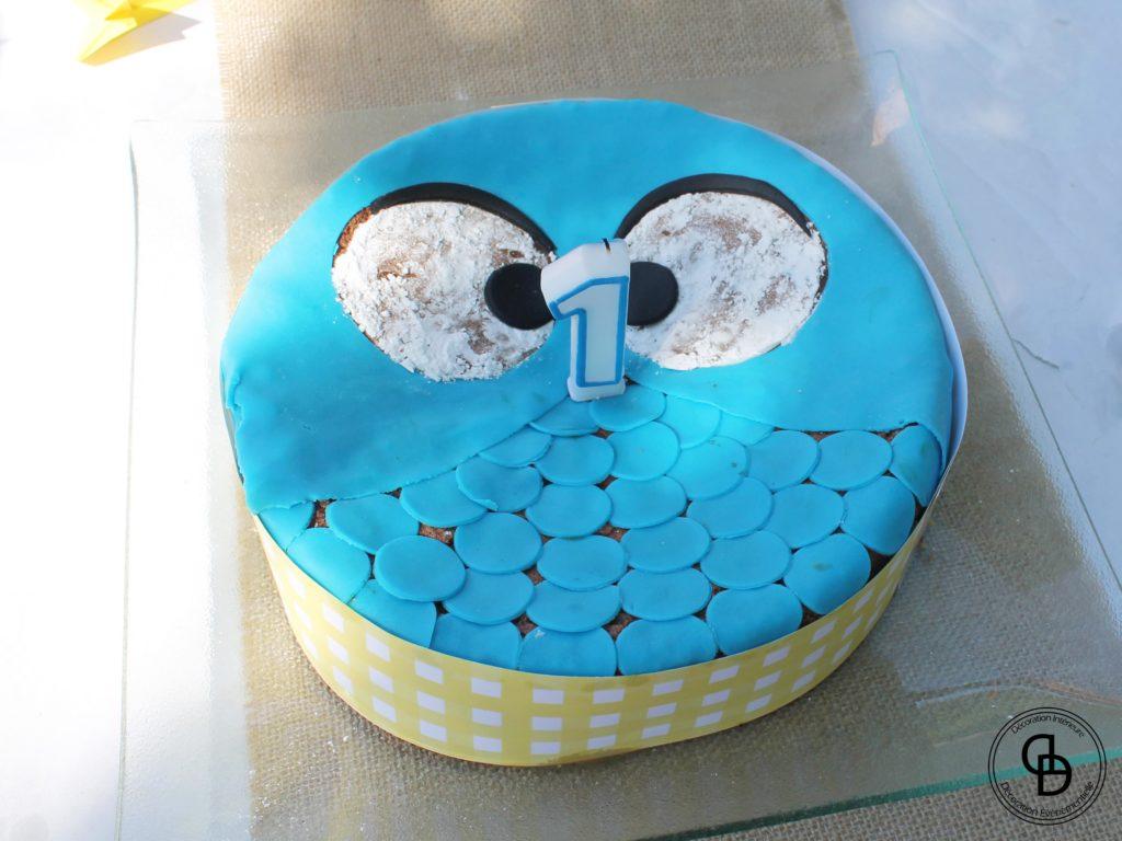 Gâteau d'anniversaire thème cocotte champêtre