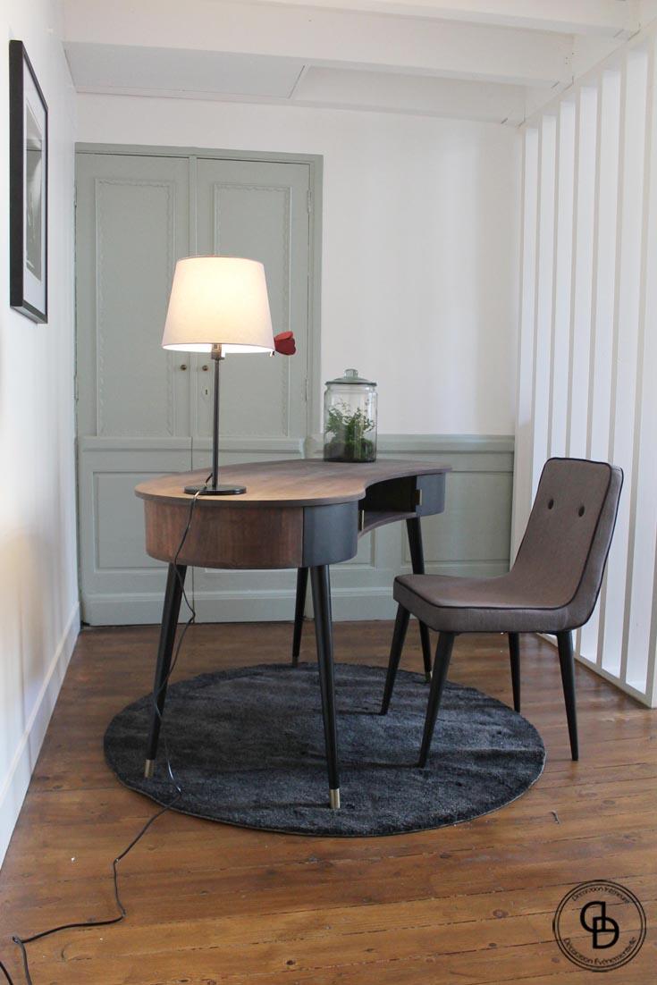 bureau de chez Maison du Monde et fauteuil de chez Made.com