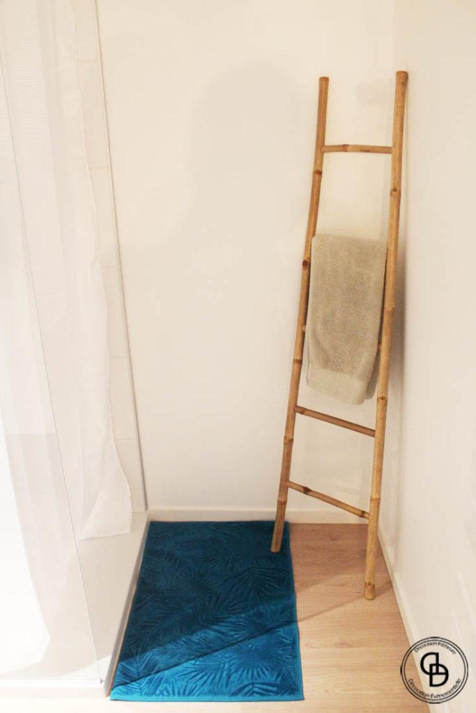 bambou, salle de bains nature