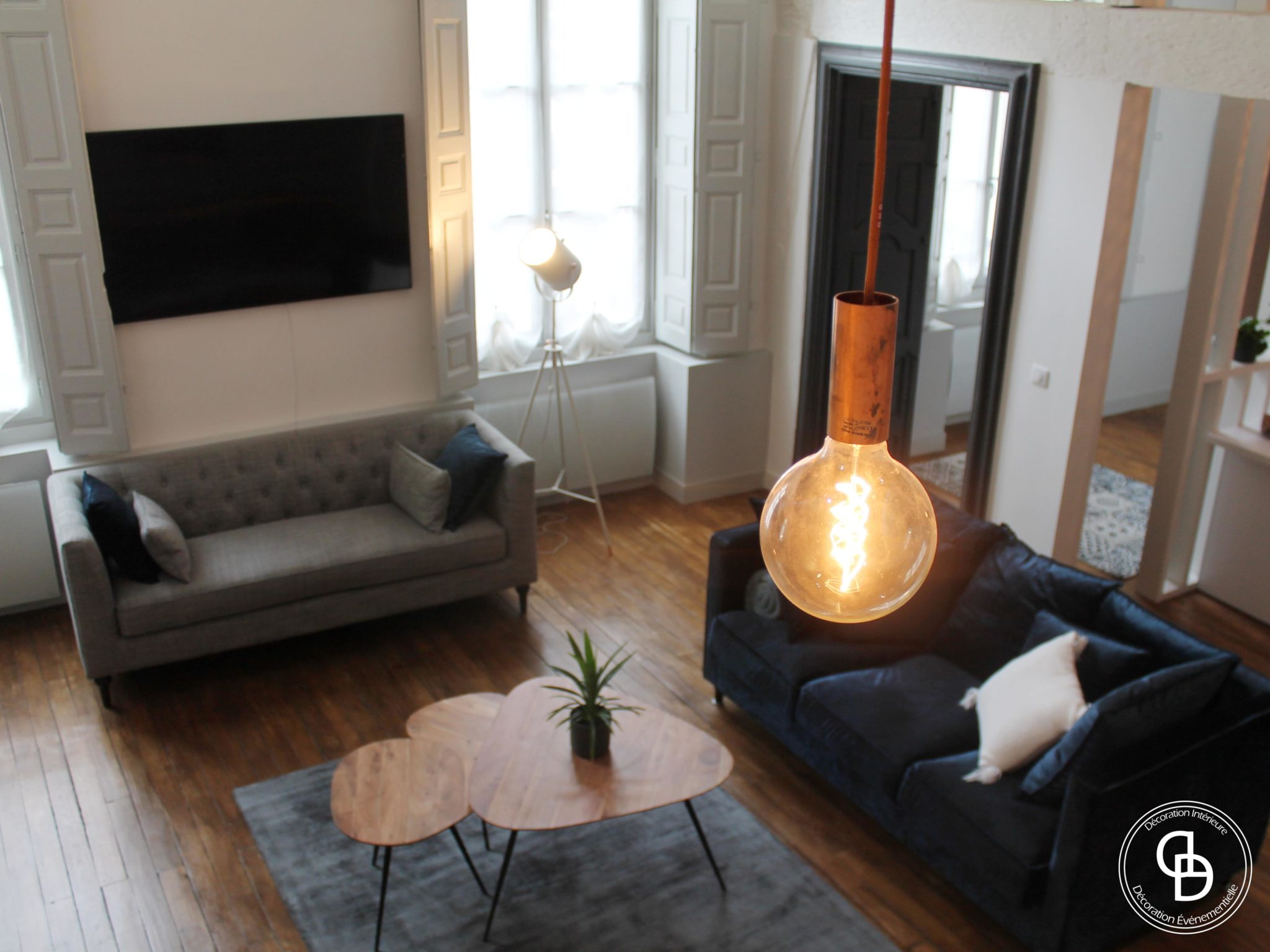 Lampe ampoule filament avec câble